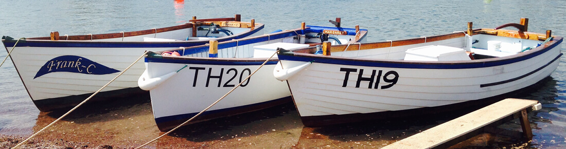 The Teignmouth Boat Hire Fleet